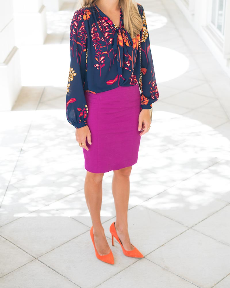 Colorful office outfit