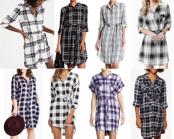 Plaid shirtdress on a budget
