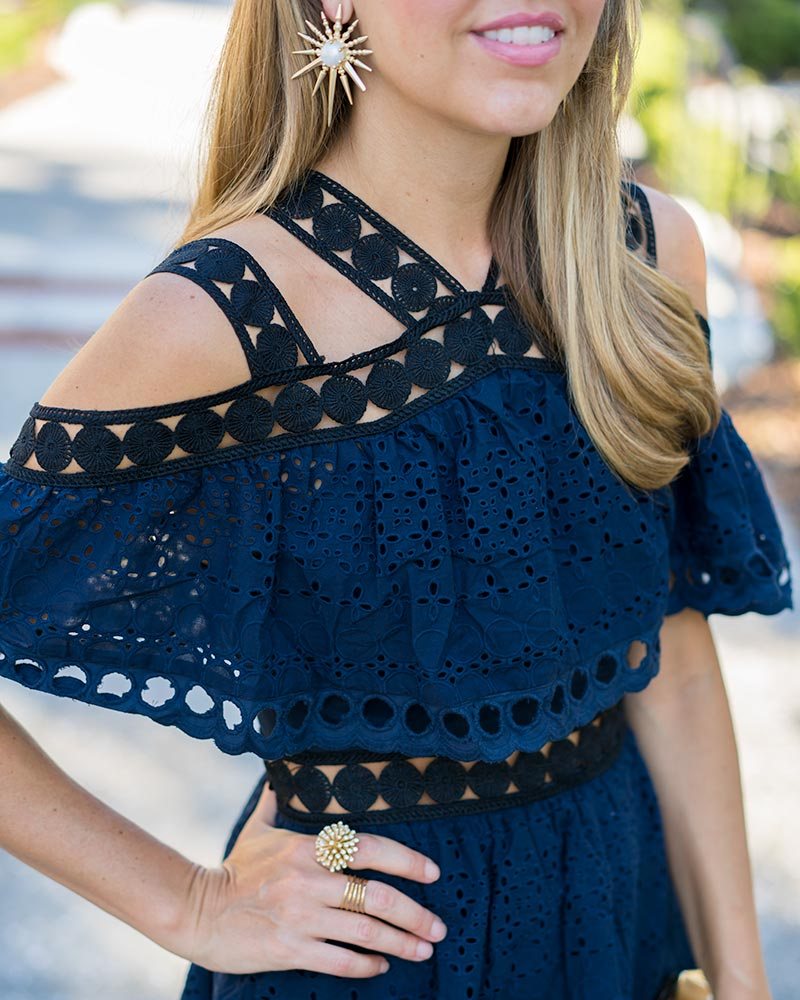 Navy and black Haute Rogue dress