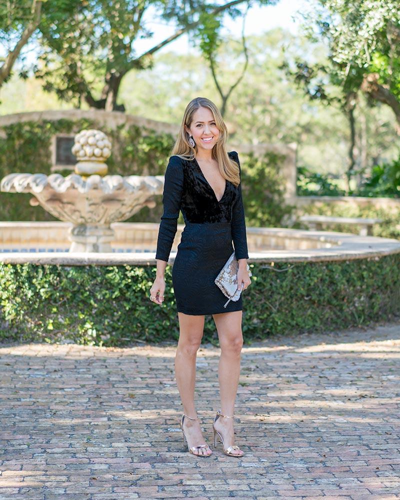 Velvet long sleeve dress