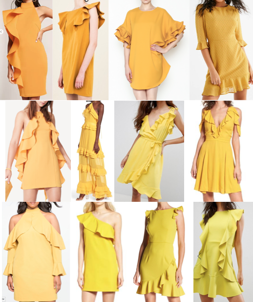 Yellow ruffle dresses on a budget