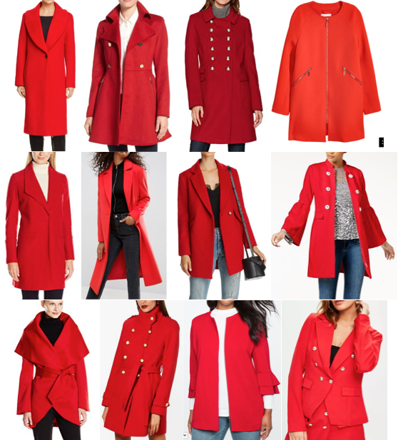 Red wool coats on a budget