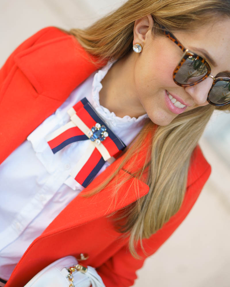 Red white blue outfit