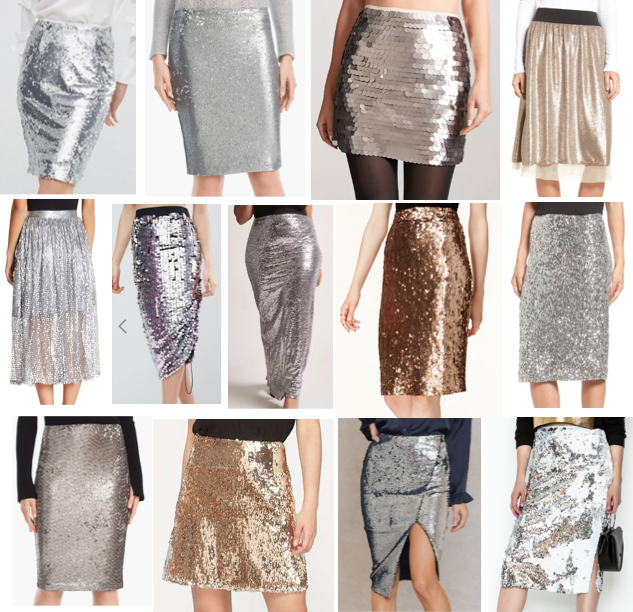 Sequin skirts on a budget