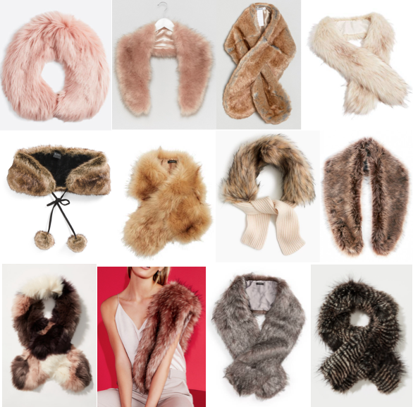 How to update an old sweater: faux fur collars