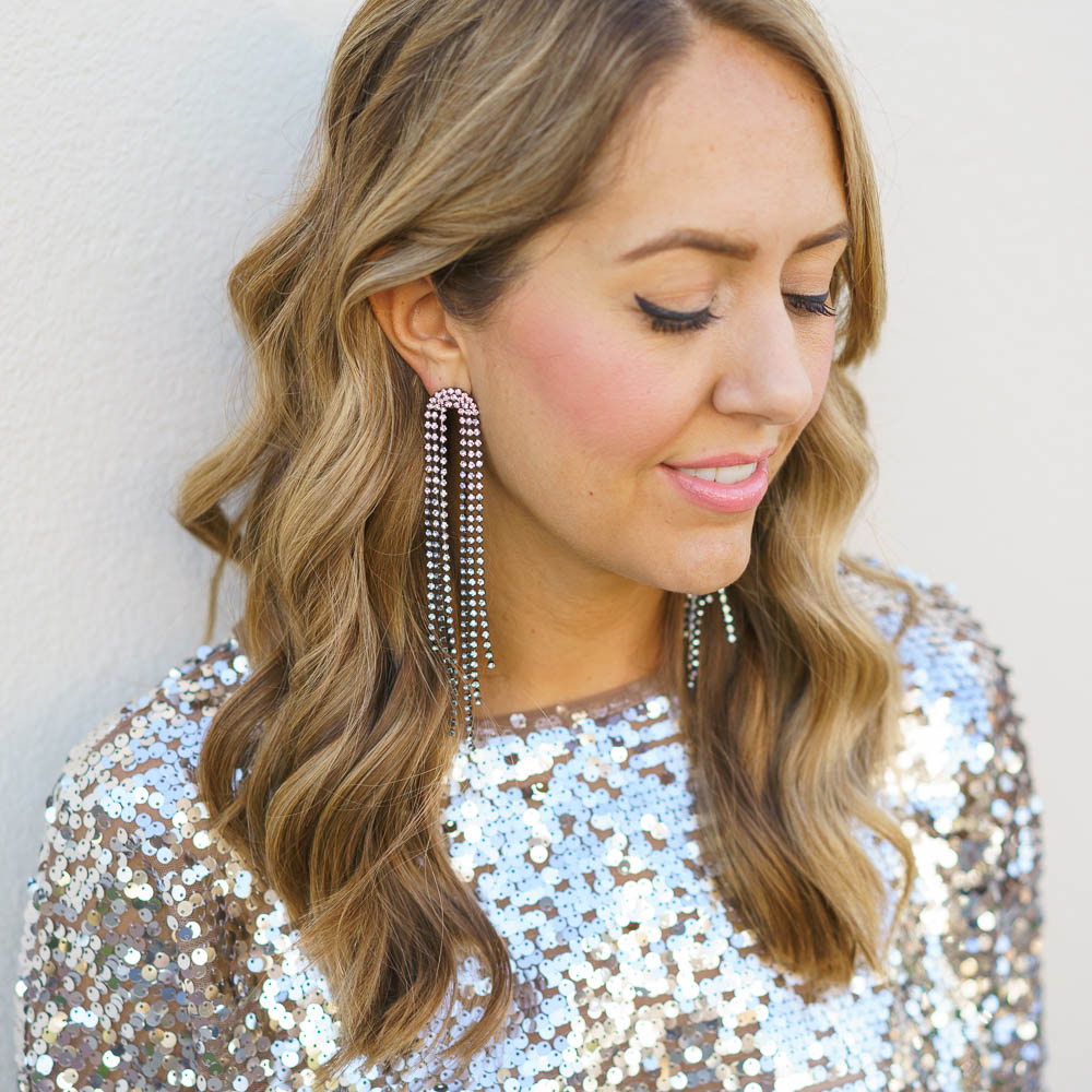 NYE outfit: long sleeve sequins