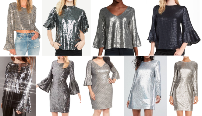 Sequin long sleeves on a budget
