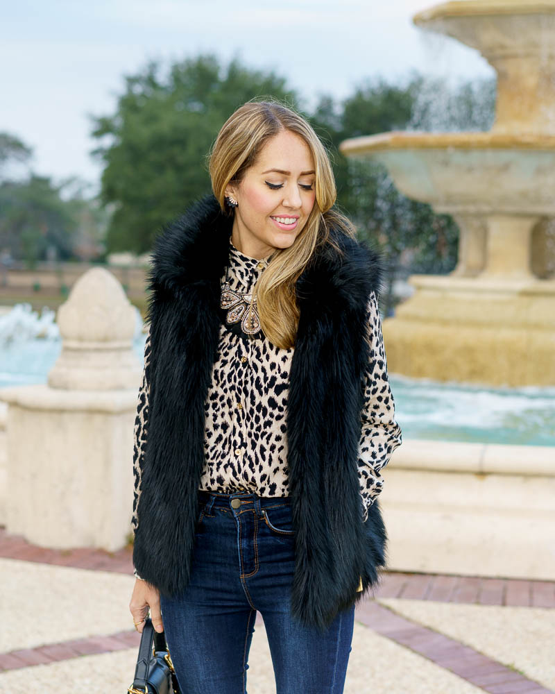 Leopard top, Constantine necklace
