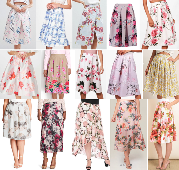 Floral skirts on a budget