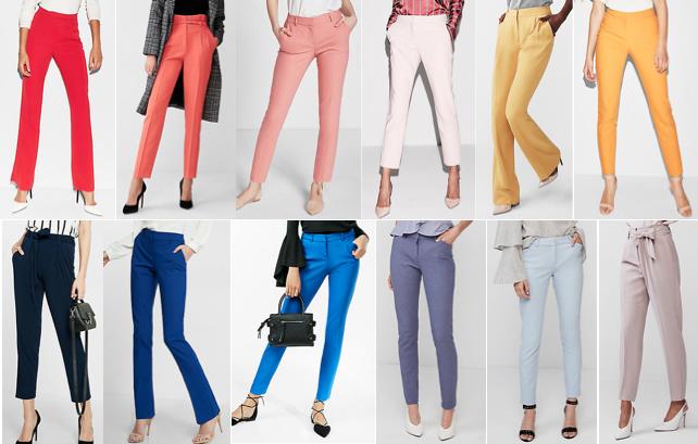 Colorful dress pants on a budget