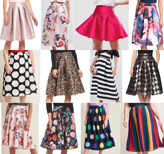 Midi skirts on a budget