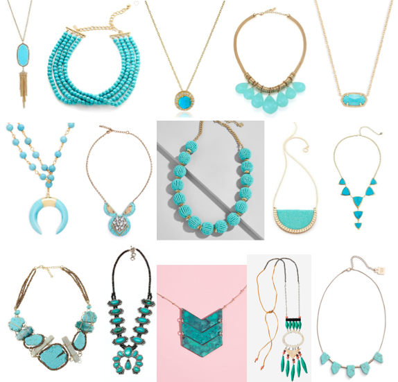 Turquoise necklaces on a budget