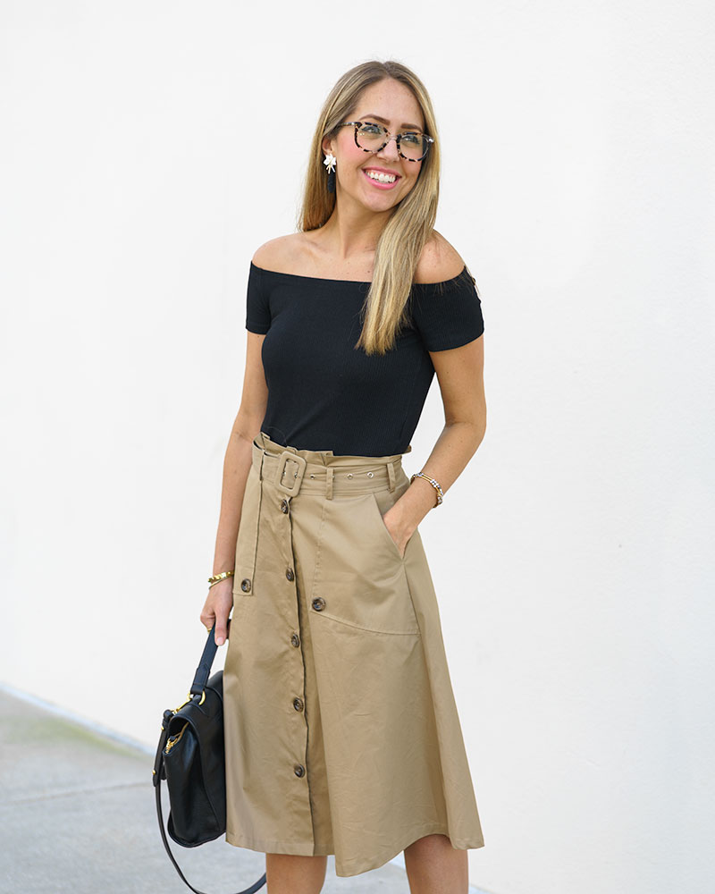 fe1493c302 Today's Everyday Fashion: The Trench Skirt — J's Everyday Fashion