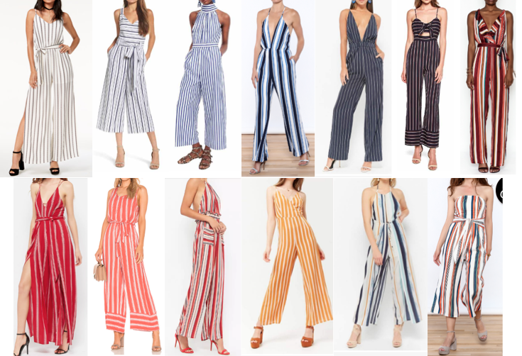 Stripe jumpsuits on a budget