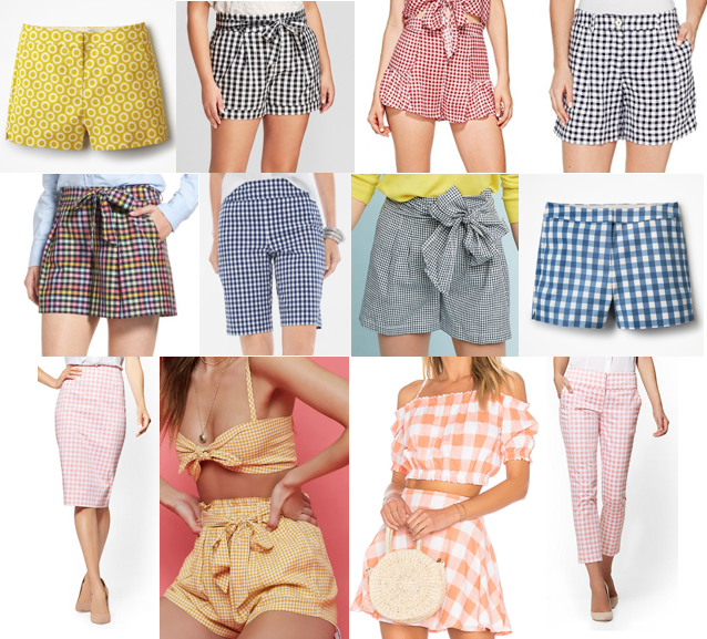 Gingham bottoms on a budget