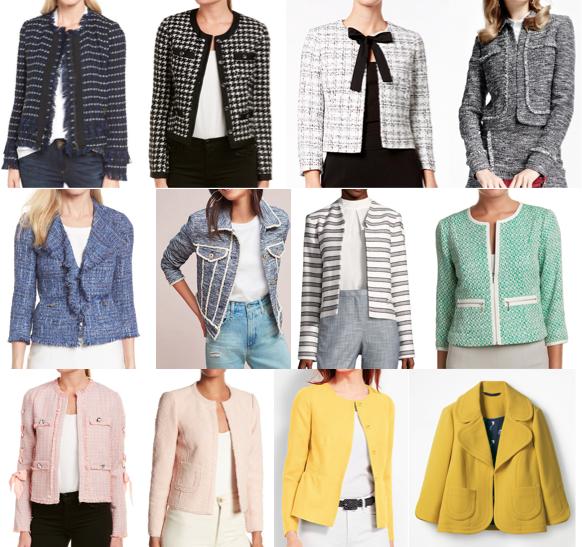 Jackie O tweed blazers on a budget
