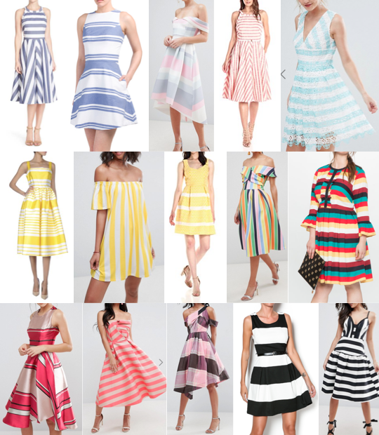 Stripe dresses on a budget