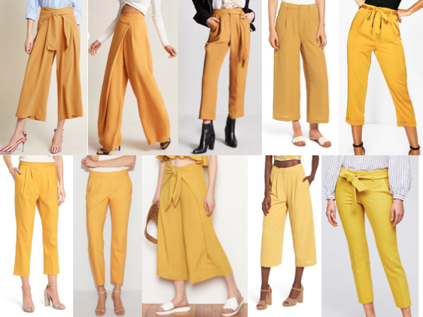 Yellow mustard pants on a budget