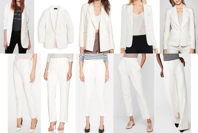 White suits on a budget
