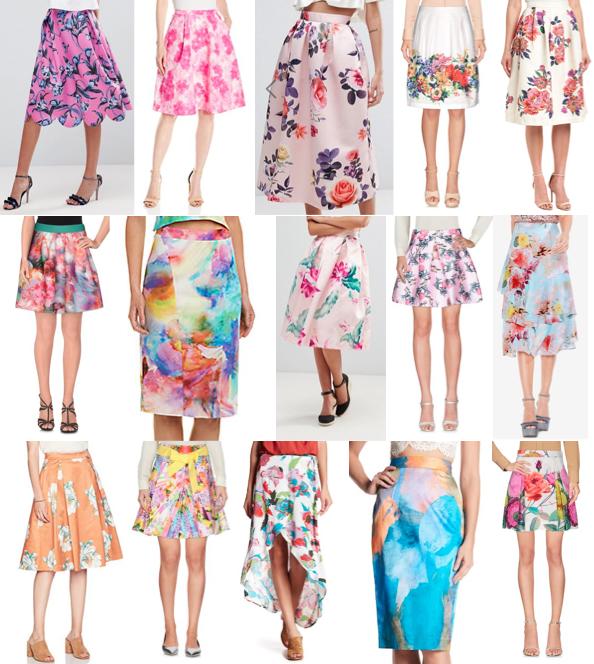 Pastel pattern skirts on a budget