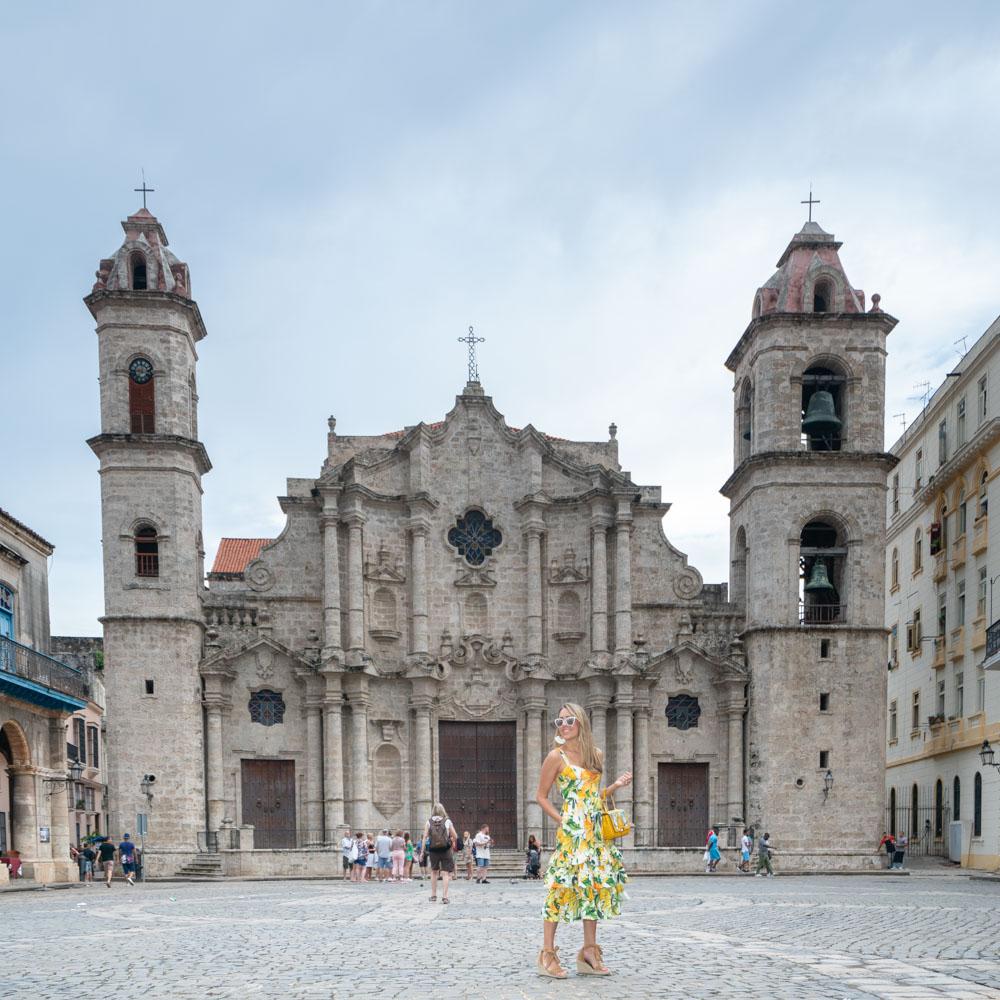 Havana yellow ruffle dress