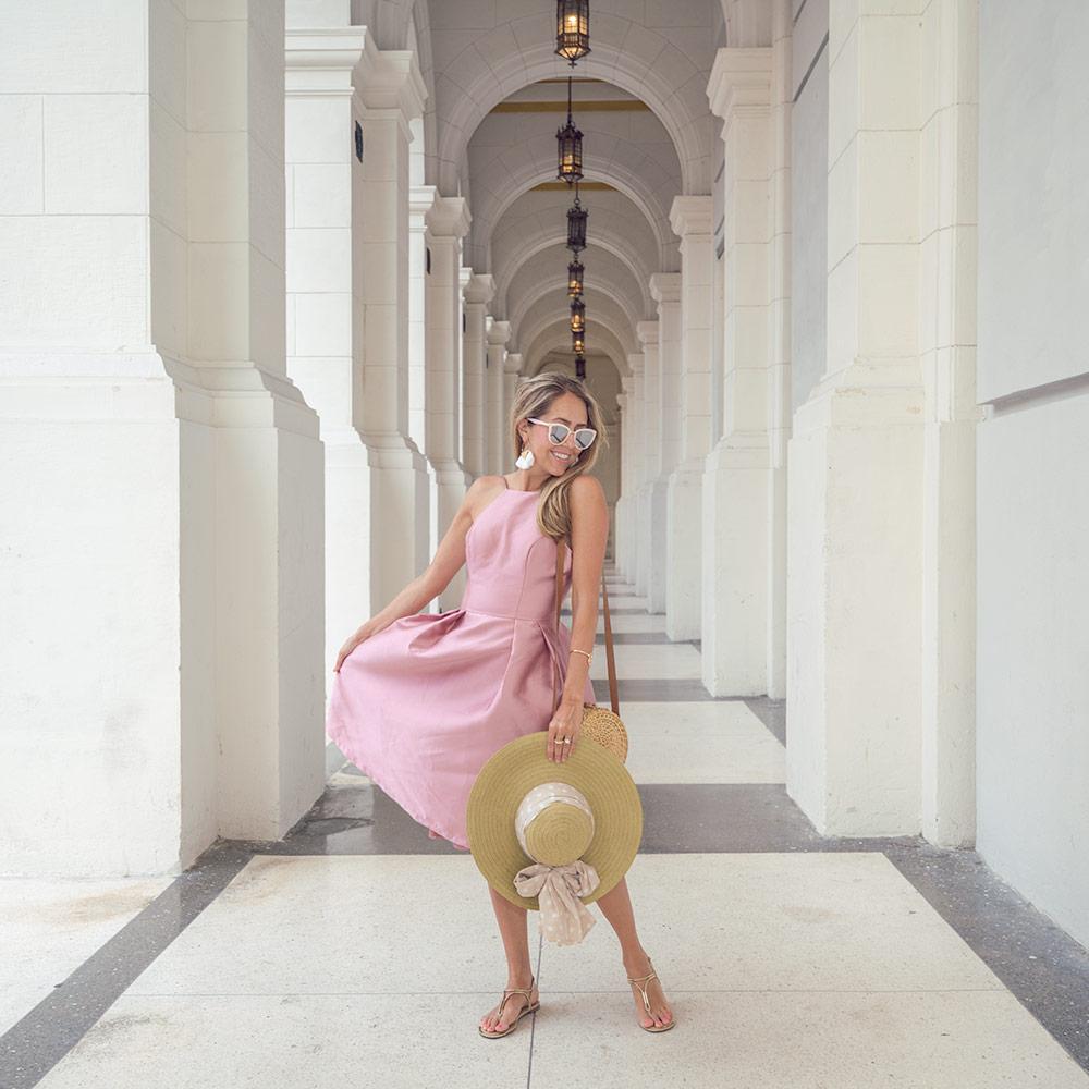 Pink dress vintage Havana