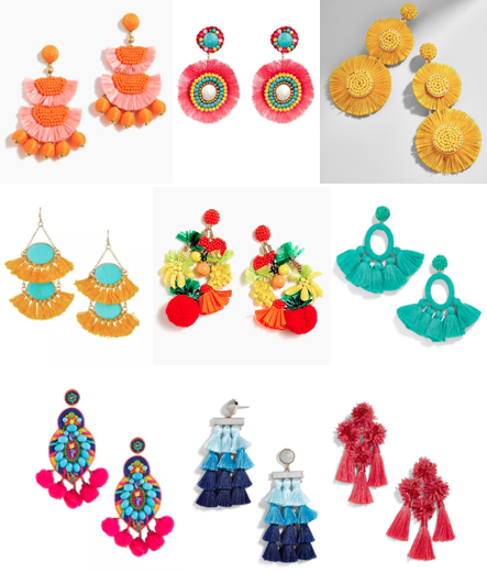 Statement earrings on a budget