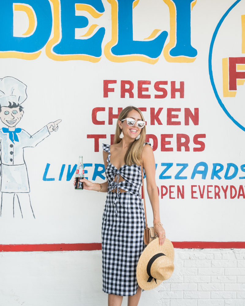 Gingham retro dress
