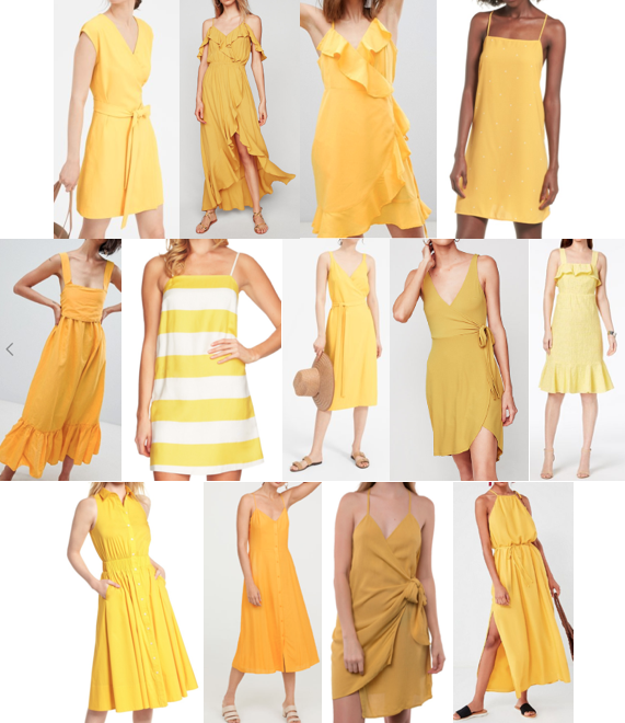 Yellow dresses on a budget