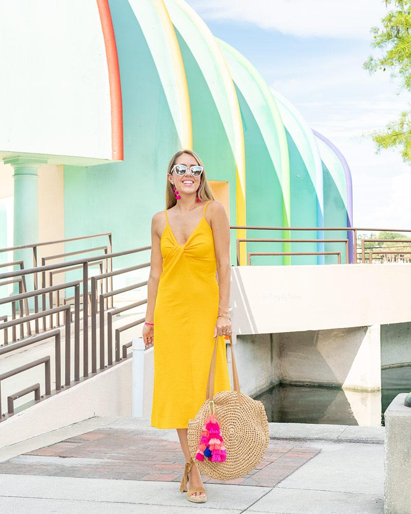 Yellow dress Lake Eola