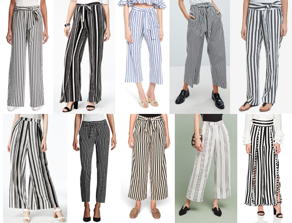 Striped pants on a budget