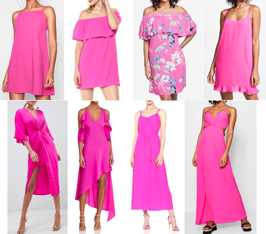 Hot pink dresses on a budget