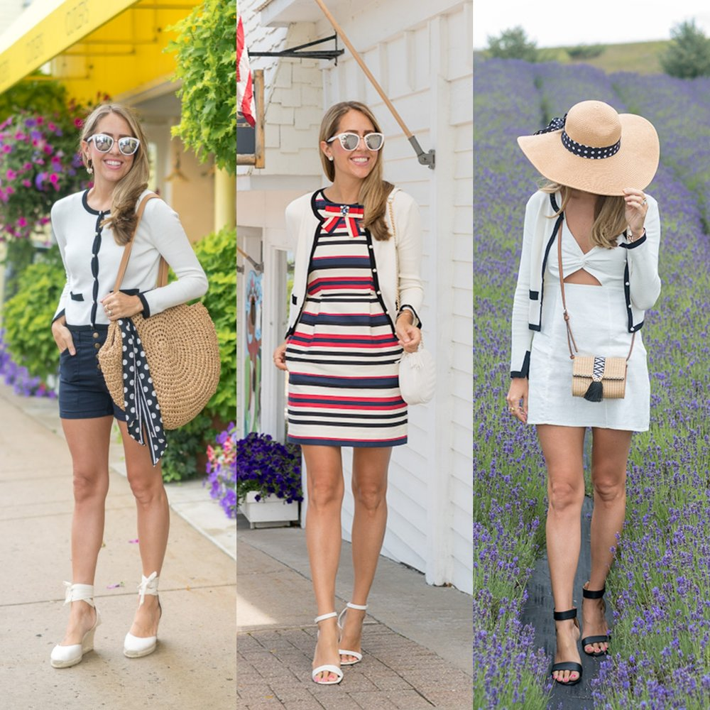 Preppy cardigan, 3 ways