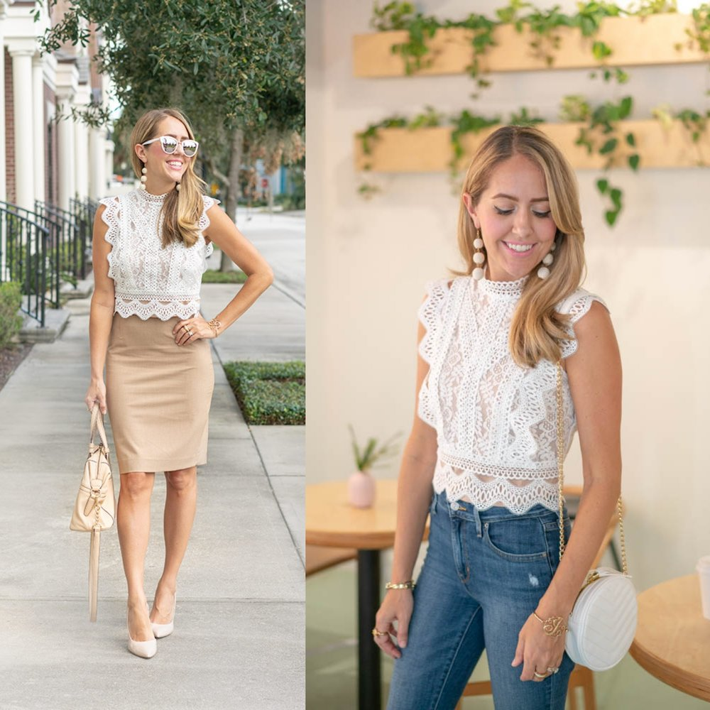 SAME TOP FOR WEEKEND -  RIGHT OUTFIT