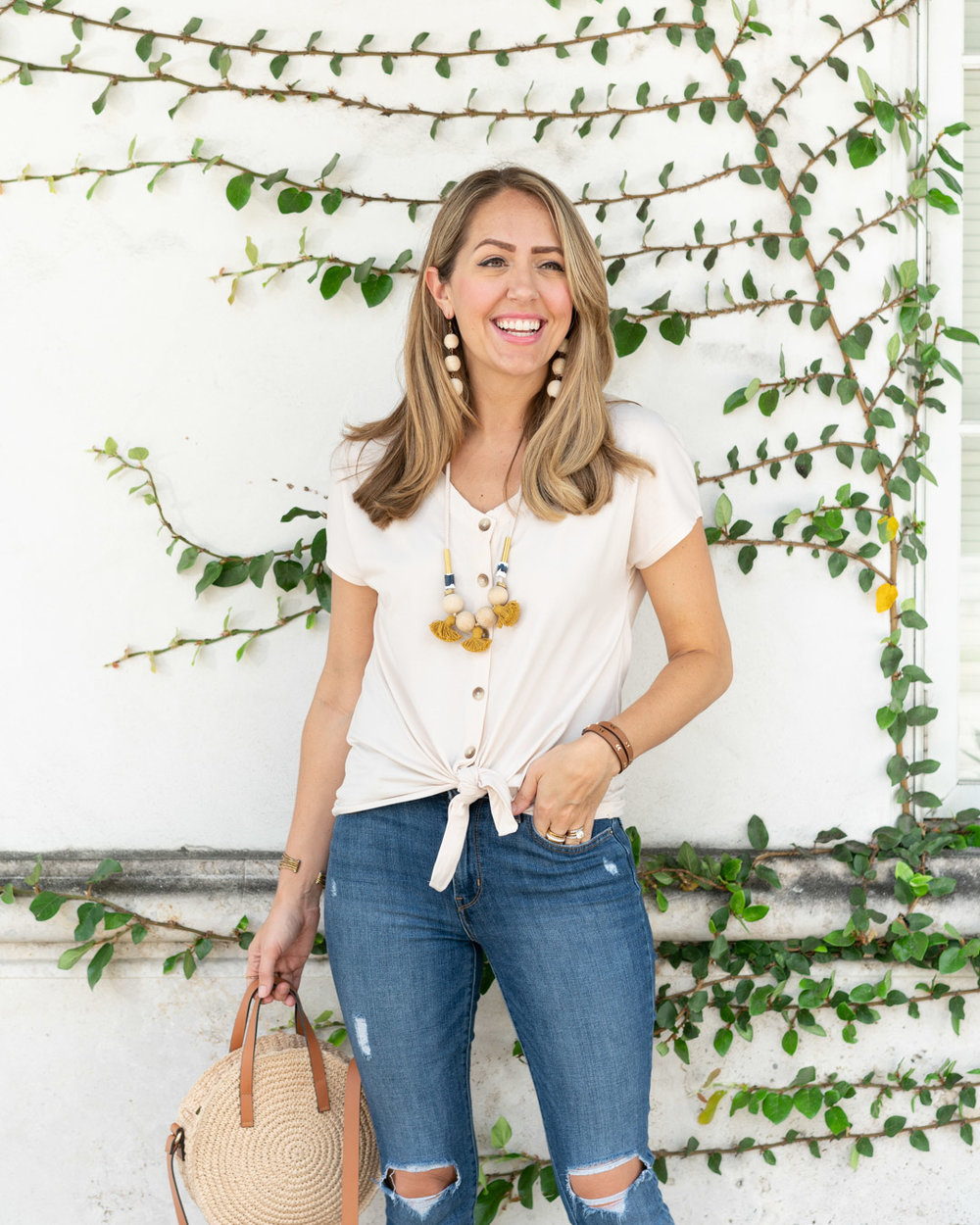 915c02212d4 I m so excited to share item  3 from my fair trade clothing line today!  This beautiful organic cotton top with buttons and tie front was modeled  after a ...