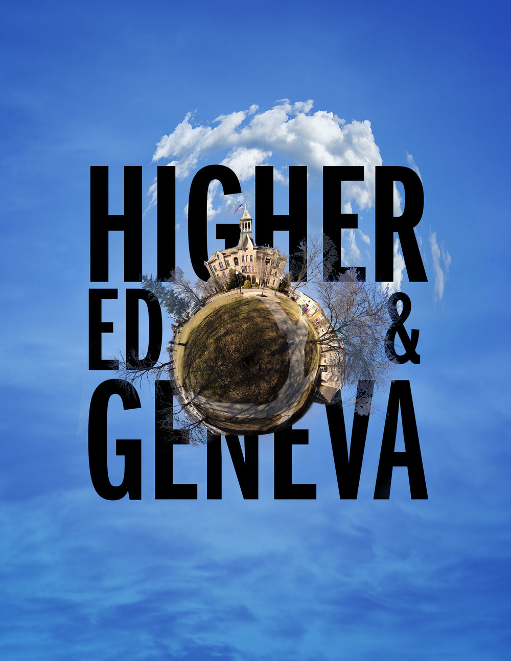 A front cover feature that I designed for the Geneva Cabinet on the state of higher education.