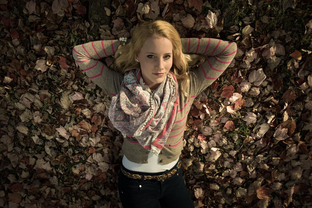 Christina during her fall senior photoshoot.