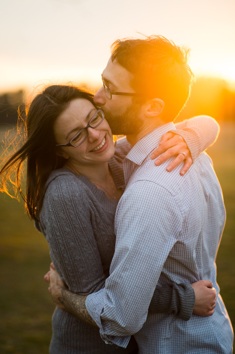 Northern VA sunrise engagement