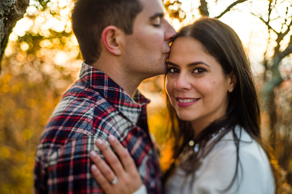 Virginia outdoor sunset engagement session