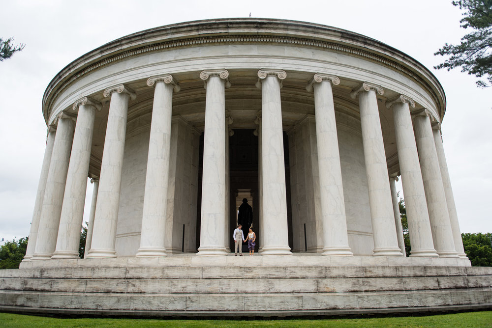 Jefferson Memorial Wedding Portraits