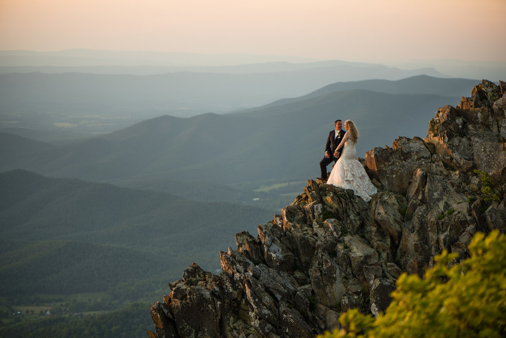 Shenandoah mountain wedding