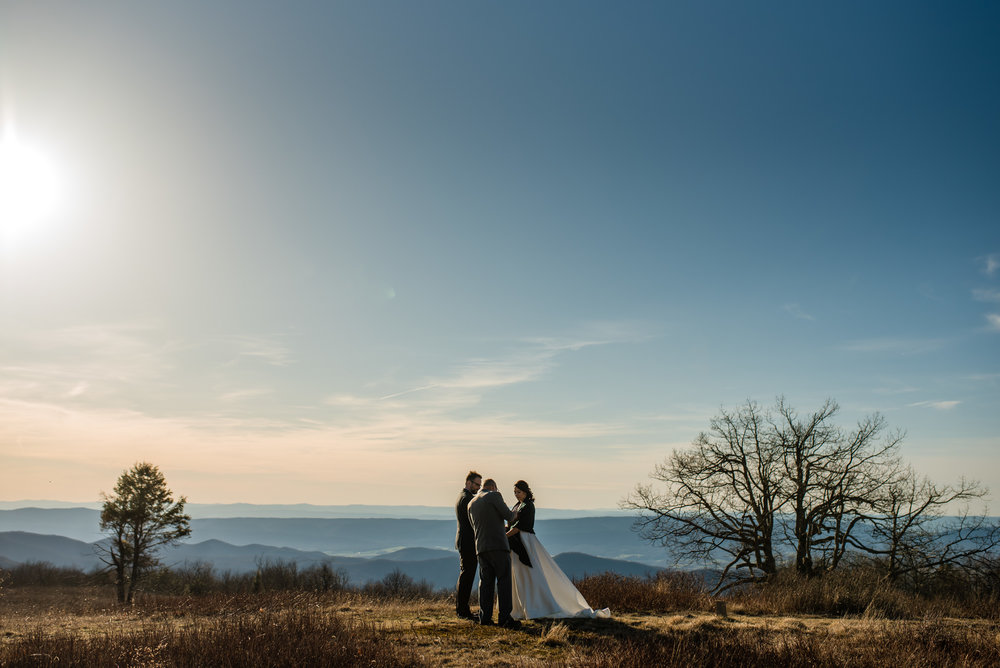 wedding elopement in the Shenandoah National Park