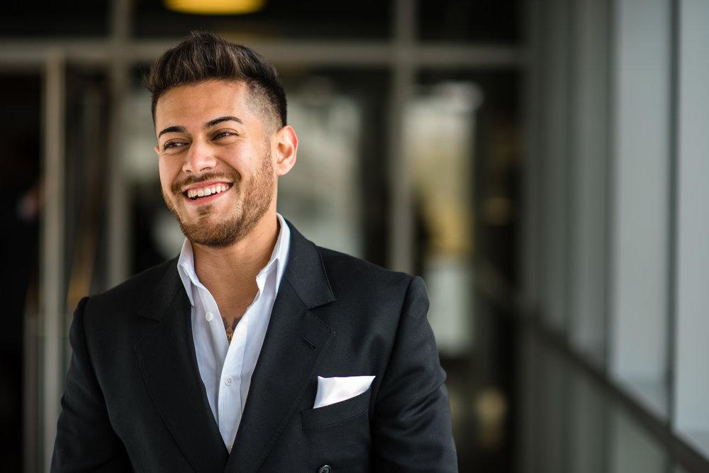 Custom suit designer Camilo Andres
