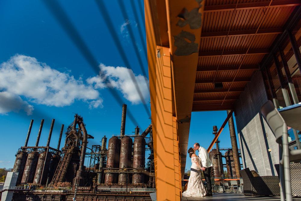 Wedding at the SteelStacks, Bethlahem PA.