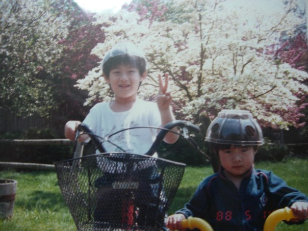 My 6 year old brother Yusuke on the left. The grumpy kid on the right is Ryo, 3 years old.