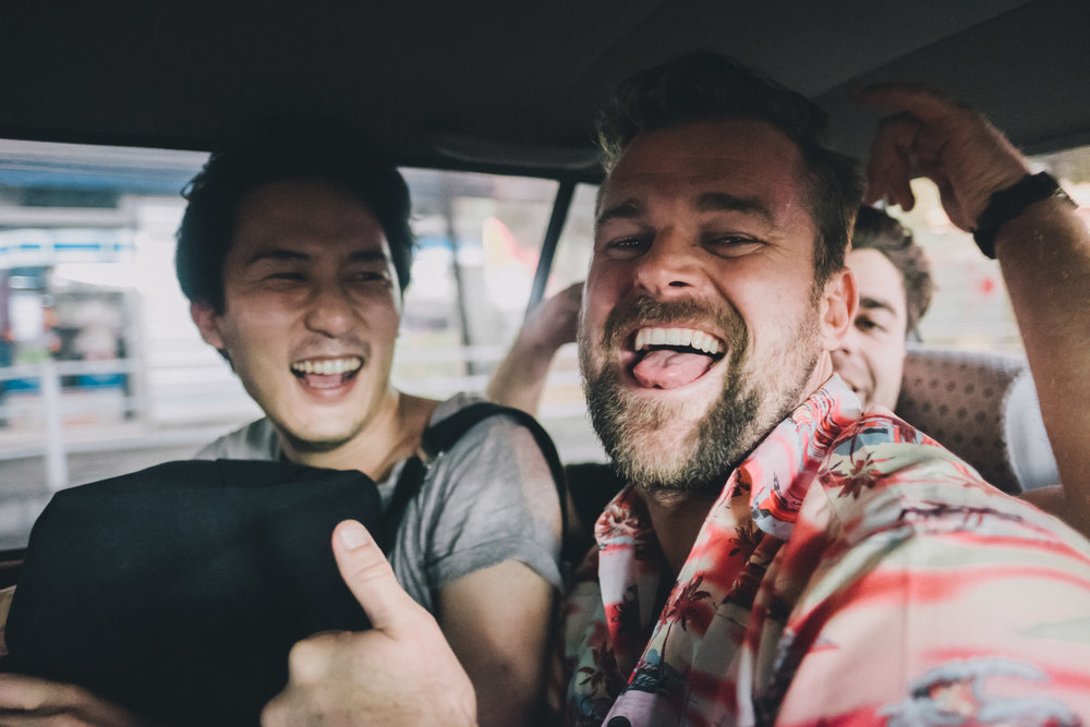 Friends in a Cab.jpg
