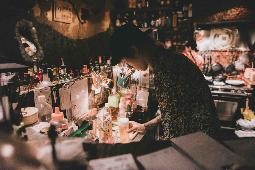 Mother . Spice-tastic original drinks and eccentric decor. Run by our friends Haruna and Nobu.