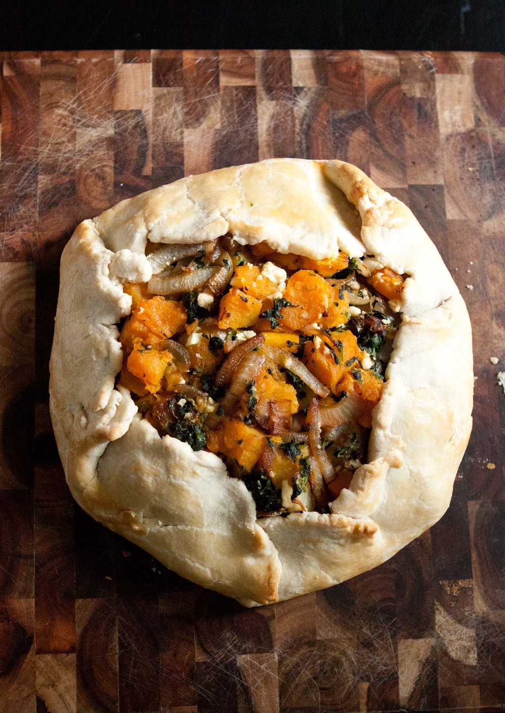 roasted butternut squash galette - passports & pancakes