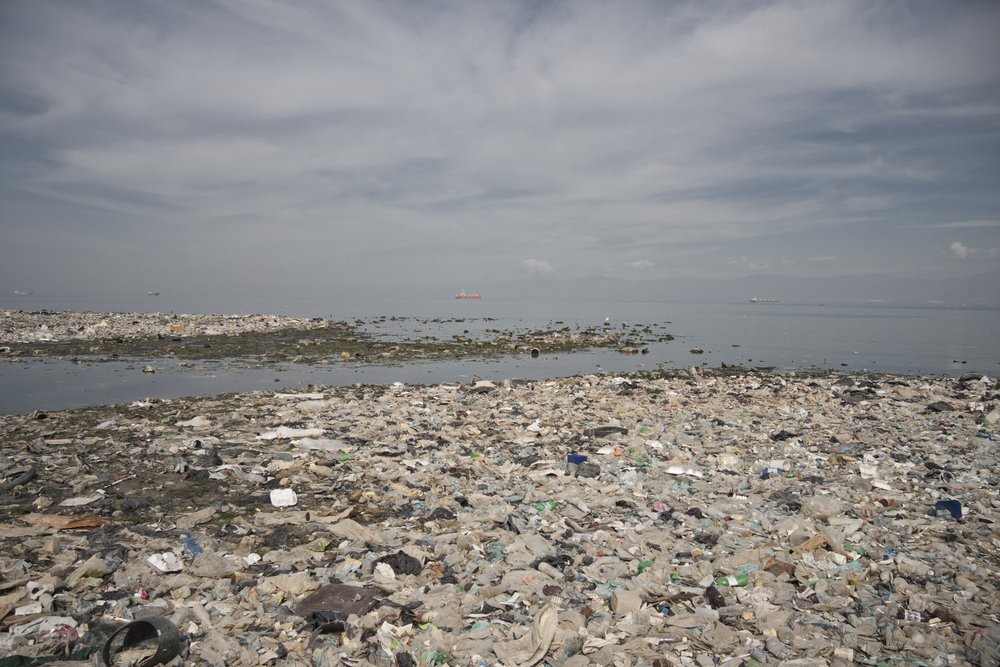Port-au-Prince. 18 December 2011. The shoreline of Haiti's captital Port-au-Prince covered in waste.