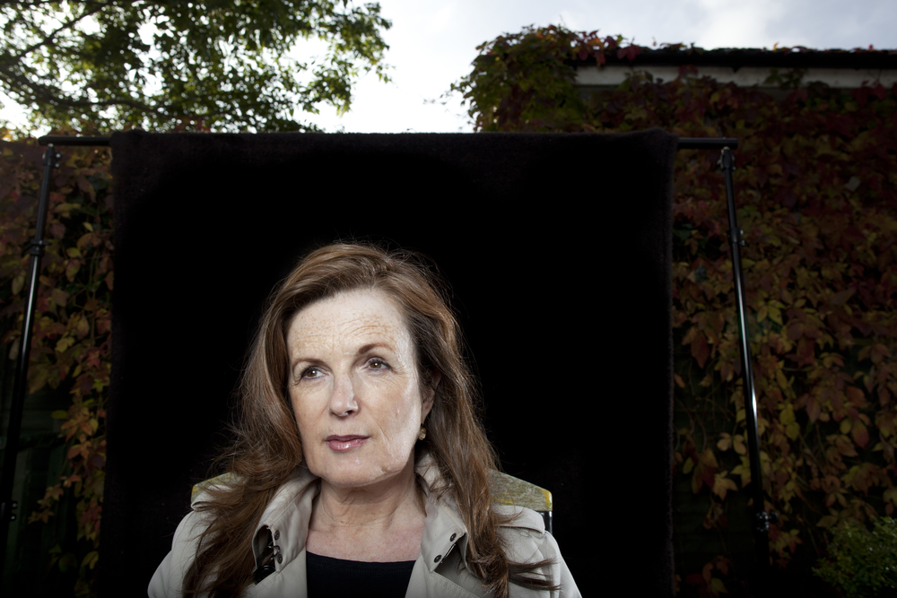 Christine Dwyer Hickey  in her garden in Dublin, Ireland.  Photographed for the   The Irish Independent  .